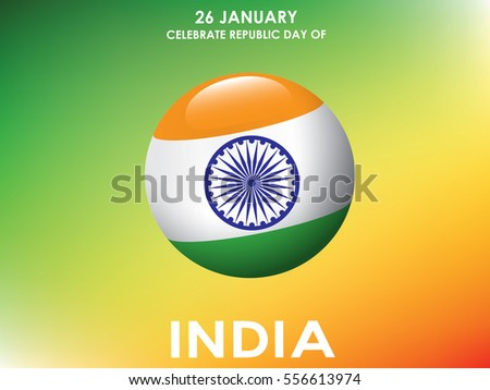 Happy Republic Day of India.Vector
