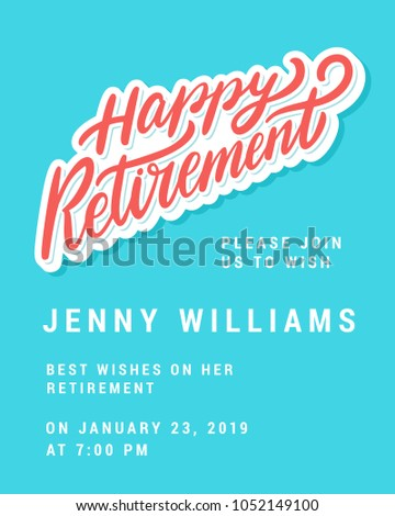 happy retirement party invitation template stock vector 1052149100