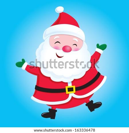 Happy Santa Claus - stock vector