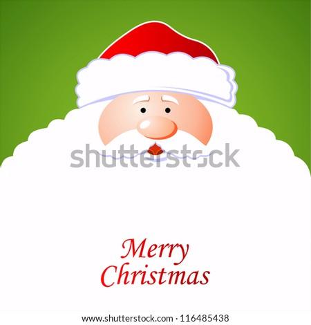 Happy Santa Claus. Creative Christmas card - stock vector