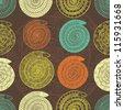 happy snake seamless pattern - stock vector