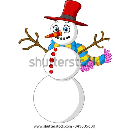 happy snowman cartoon