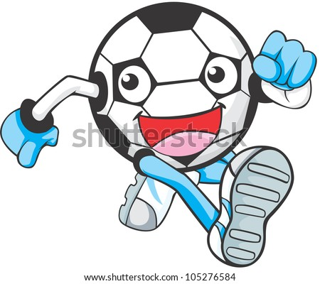 Happy Soccer Player Illustration running