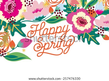 Happy Spring Stock Images, Royalty-Free Images & Vectors ...