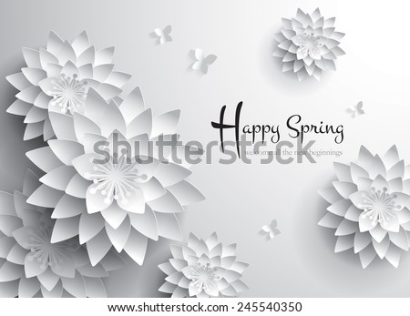 Happy Spring. Welcome all the new beginnings. - stock vector