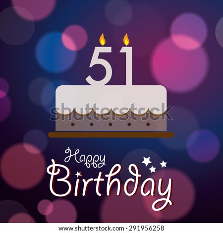 Stock Vector Happy Birthday Bokeh Background With Cake Jpg 450x470 51st