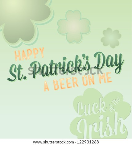 Happy St. Patrick's Day Card Vector - stock vector