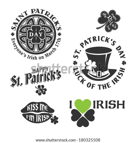 happy st. patrick's day vector design element - stock vector