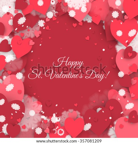 Happy St Valentines Day Abstract Background Stock Vector 357081209 ...
