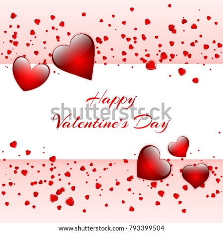 Happy St Valentines Day Greeting Card Stock Vector 793399504 ...