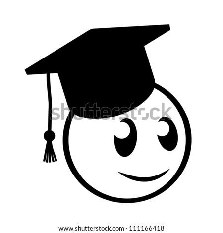Happy student - stock vector