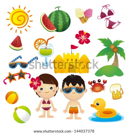 Happy Summer - stock vector