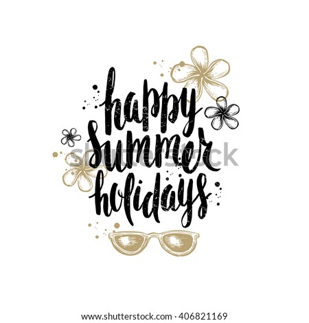 Happy Summer Holidays Vacation Stock Vector