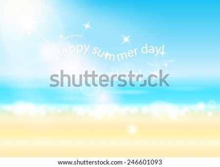 Happy summer time background. Vector EPS10.