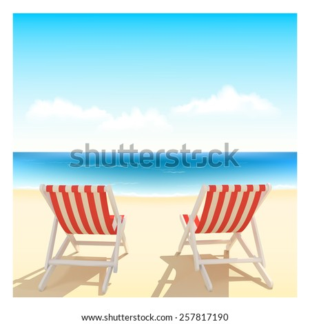Happy summer time environment,Vector summer holiday idea concept