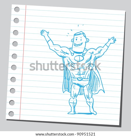 Happy superhero smiling - stock vector