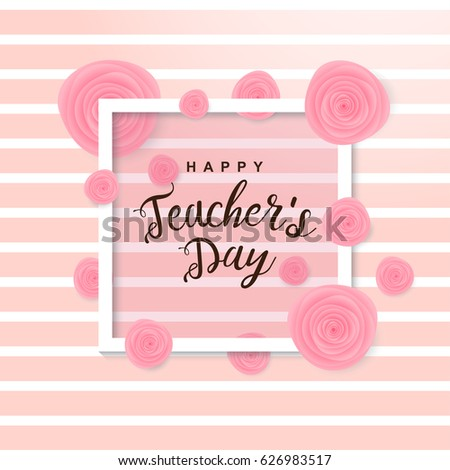 Teachers day stock images royalty free images vectors happy teachers day poster vector illustration stopboris Gallery