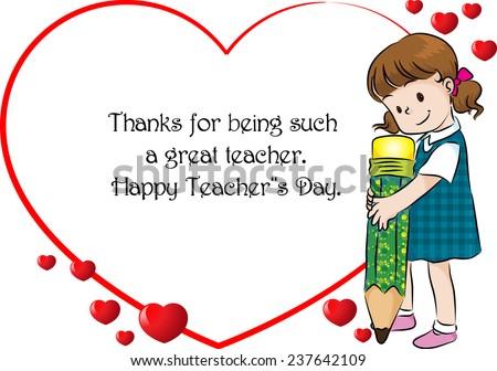 Happy Teachers Day Stock Vector 237642109 Shutterstock
