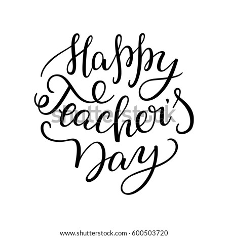 how to write happy teachers day in calligraphy