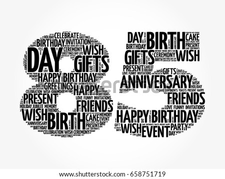 Happy 85th birthday word cloud collage stock vector 658751719 happy 85th birthday word cloud collage concept filmwisefo Choice Image