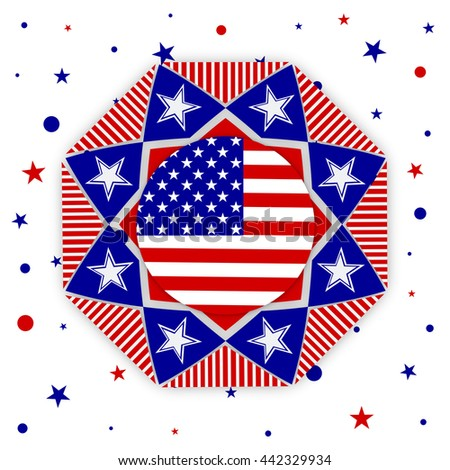 Happy 4th Of July, Independence Day Of United States Of America (U.S.A) design