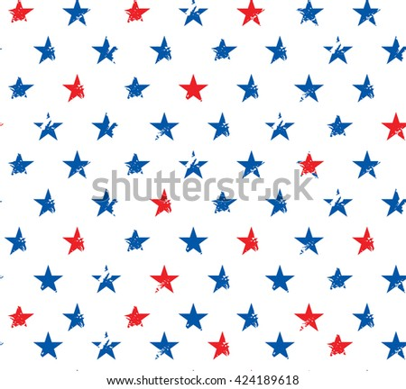 Happy 4th of July - Independence Day Vector Design - July Fourth - pattern