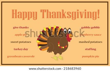 Happy Thanksgiving - stock vector