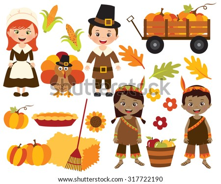 Happy Thanksgiving - stock vector