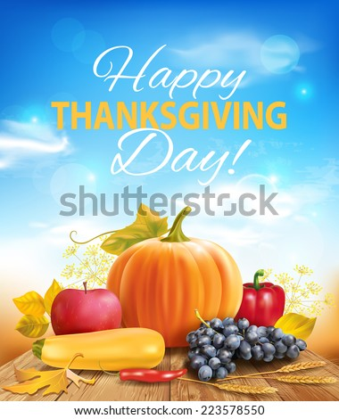 Happy Thanksgiving background. Vector eps 10. - stock vector