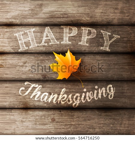 Happy Thanksgiving Background, vector illustration. - stock vector