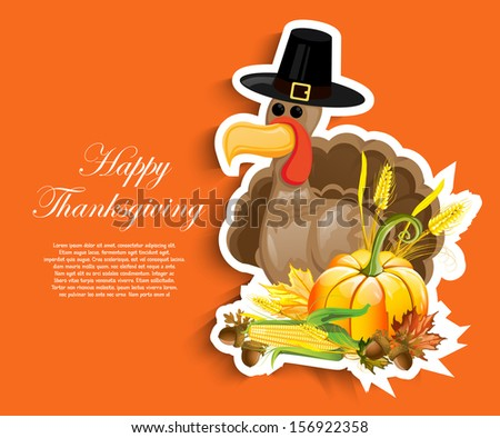Happy Thanksgiving Day - stock vector
