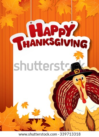 Happy Thanksgiving day!  - stock vector