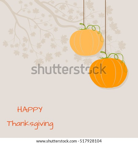 Happy Thanksgiving Day background with pumpkins