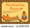 happy thanksgiving day card. vector illustration - stock