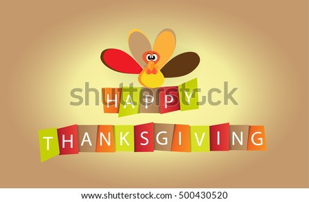 Happy Thanksgiving Day celebrations greeting card design. Vector.
