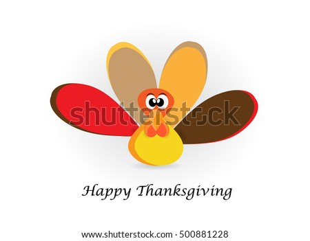 Happy Thanksgiving Day celebrations greeting card design with colorful turkey.