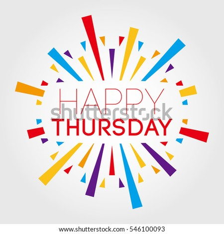 Happy thursday vector illustration poster banner stock vector happy thursday vector illustration poster banner greeting template m4hsunfo