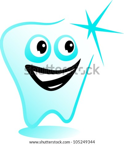 Happy tooth - stock vector