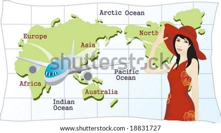 Happy Travel - stock vector