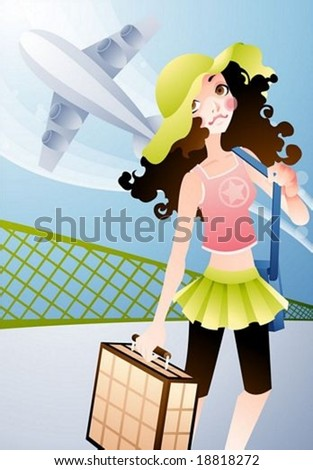 Happy Travel - vector illustration