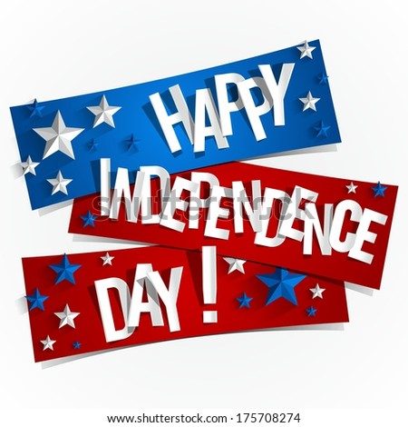 Happy USA Independence Day Card With Abstract Map vector illustration