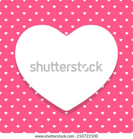 Happy Valentine Pink Pattern Background - stock vector