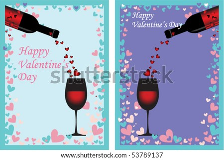 Happy Valentine's Card - stock vector