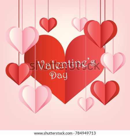 Happy Valentines Day Background Stock Vector 784949713 - Shutterstock