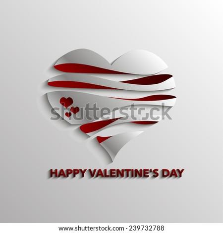 Happy Valentine's Day Card - stock vector