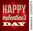 Happy Valentine's Day Card and Background - stock vector