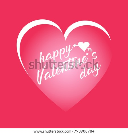 Happy Valentineu0027s Day Card. Good For Greeting Cards, Print Design. Vector  Illustration.