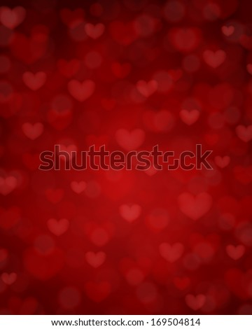 Happy Valentine's day card hearts light vector background - stock vector