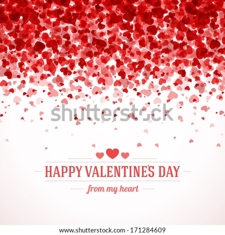 Happy Valentines Day Card Hearts Light Vector 171284609 – Valentines Days Card