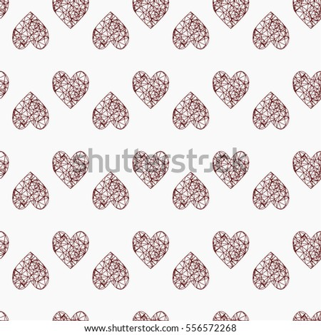 Happy Valentine's Day card seamless background